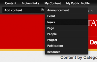 Screenshot showing how to create a News page in Luggage