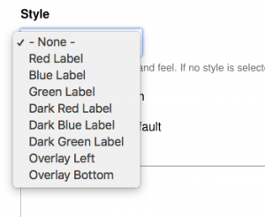Styling drop down