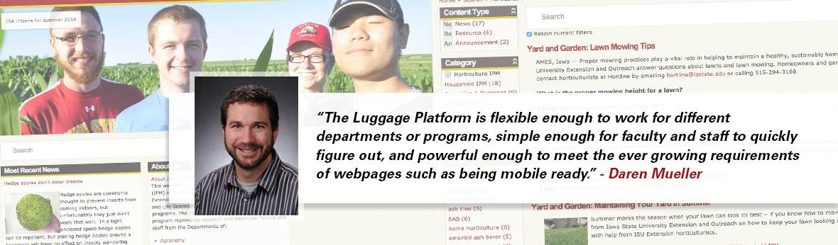 Daren Mueller quote on Luggage Platform effectiveness banner