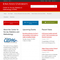 Center for Survey Statistics & Methodology (CSSM)