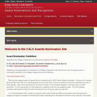 CALS Awards Nomination Site