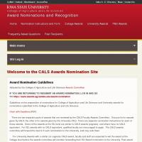 CALS Awards Nomination Site