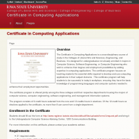 Certificate in Computing Applications