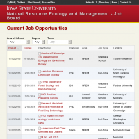 Current Job Opportunities | Natural Resource Ecology and Management - Job Board