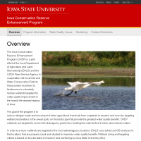 Iowa Conservation Reserve Enhancement Program