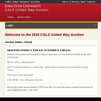 CALS United Way Auction