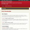 College of Agriculture and Life Sciences Scholarships